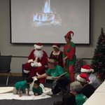 Santa came all the way down from the N Pole to see the Selby preschool kids perform their play at the @HeraldTribune http://t.co/CD3w8dCJtH