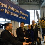 With the banner unveiling, the WCAM is now known as the Royal Aviation Museum of Western Canada. #Winnipeg http://t.co/GjVqUHD2RR