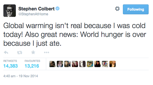 Wise words from Colbert. http://t.co/7UiIwc1i5p