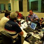 Prefeito da capital nos estúdios da Rádio CBN João Pessoa 101.7 FM. #EquipeLucianoCartaxo http://t.co/7cnTaLPksR