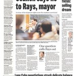 The Friday, December 19th @TB_Times front page. #Rays http://t.co/IbHJz1WjaM