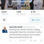 Thank You Indian PM Mr. @narendramodi for your warm Hanukkah greetings! @IsraelinIndia @Froim @danielocarmon http://t.co/IttqfejPge