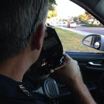 Ofc Schafer running speed enforcement in 1400 bk of N Tamiami/Speed limit=40. Its busy area for pedestrians #PolTwt http://t.co/x0aX2QKBne
