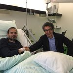 With good friend and colleague, Mujahid Kakar in Germany. He is much much better and on the road to recovery http://t.co/yoS7AMsr6U