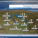 Mild, misty, freezing drizzle across S. Mb this am. HIghs around -6C today with chance of light flurries. #cbcmb http://t.co/RWWlmUv02r