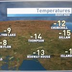 Mild in Northern Manitoba this morning. Light snow and light freezing drizzle. #cbcmb http://t.co/nTxYfCfpTi