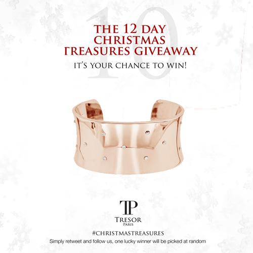 DAY 10 of our #ChristmasTreasures giveaway! FOLLOW US & RT for your chance to win our Vega rose gold plated bangle! http://t.co/CfMuxThaVA