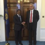 I was delighted to meet SG Sharma to take stock of state of affairs within Commonwealth #CMAG @commonwealthsec http://t.co/xhiFOkMGSr
