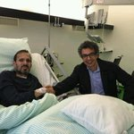 """@saadmohseni: With good friend and colleague, Mujahid Kakar in Germany. He is on the road to recovery. http://t.co/8jxrgPaiYH"