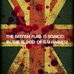 العلم البريطاني ملطخ بدماء البحرينيين! بريطانيا إمبراطورية الشر #البحرين #bahrain #humanrights #USA #UK #freedom http://t.co/SUeTMvBDUb