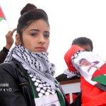 """ابنة الشهيد زياد ابو عين """"محار """" اليوم في مكان استشهاد والدها ، تكمل ما بدأه ، الثوريون لا يموتون . http://t.co/2E9DMRGuog"""