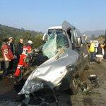 Así el accidente en el Arco Norte, con 2 muertos y 27 lesionados. Vía @Marisol_Mesa http://t.co/opxzegf0lb