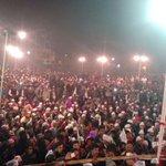 Moments from Malviya Nagar jansabha while .@ArvindKejriwal & .@attorneybharti addressing the huge gathering. http://t.co/o7b1lgDsVN