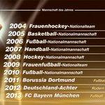"""Der @FCBayern wurde 2013 """"Mannschaft des Jahres"""". Wer schafft es 2014? Am So. gibts die Antwort. #SportlerDesJahres http://t.co/fD3T77LhCO"""