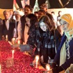 #MQM s @TehsinAbidi @Sccadi & @HeerSoho after #Nationalsolidarityrally Candle Vigil by them for #Peshawar Massacre http://t.co/fE89cgVAUn