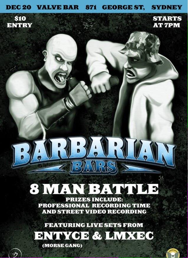 Barbarian Bars - who's coming down to Valve tonight to see @LeeMonroXElloC  jump up? @Ello_C is coming.. Right? Haha http://t.co/lUgaKnIJCd
