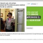 Y @josefaerrazuriz parece más una dictadorcilla que una alcaldesa en Providencia. http://t.co/scFD34pCEX