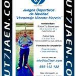 """Juegos deportivos de Navidad """"Homenaje Vicente Hervás"""" por @fut7jaen http://t.co/pS8bqkTGc6"""