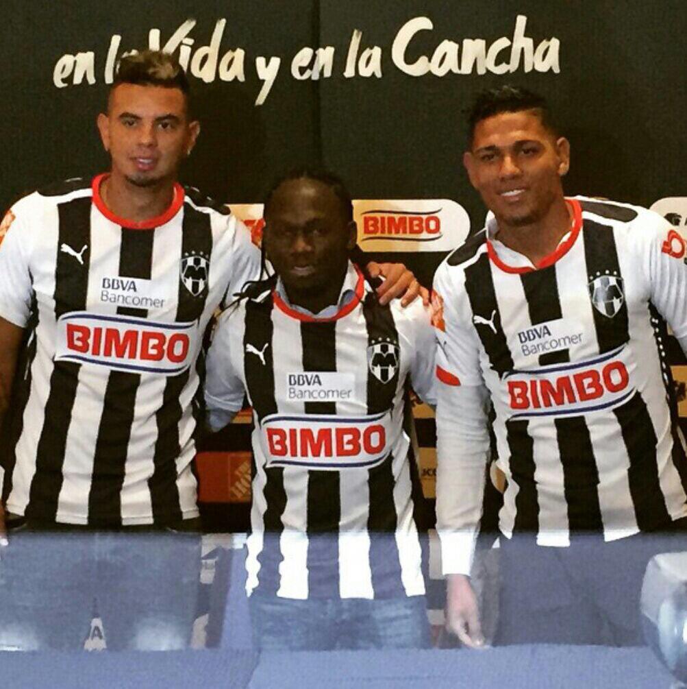 Colombia se toma a Monterrey Los rayados presentaron sus fichajes para el 2015: E. Cardona, Yimmy Chará y Alex Mejía  http://t.co/6SALdT6IMB