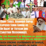 Asaram BapuJi exposed Sonia Gandhi as an agent of Vatican & Christian Missionaries #SecularConversions http://t.co/AZYB3KacGm