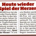 #Bundesliga #M05 Spiel der Herzen gegen #FCB - jeder kann heute helfen! #Mainz05 #nurderfsv #Mainz #M05FCB http://t.co/NkrAgwNk6o