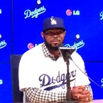 Howie Kendrick addresses the media as a #Dodgers for the first time. http://t.co/x7pTU1EOoN