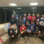@SwansOfficial Under 14 squad and Coaches looking great in their Christmas Jumpers. Nadolig Llawen. http://t.co/geWtB8FbWJ