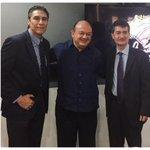 Con el Srio. de Cultura de Colima Rubén Pérez Anguiano y Xavier Tudela Pdte. del @Cacaccorg, en Conferencia de Prensa http://t.co/gI9o5EtWhH