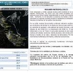 Actualización del Estado del Tiempo del 19 de Diciembre de 2014 http://t.co/2dIR53v45R
