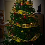 "Here is the tree our Ident Officers have ""decorated"" in the ident office for the #Holidays #PolTwt http://t.co/AdFbJvIBIh"