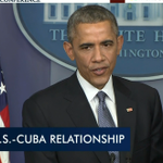 """Obama on Cuba: """"Change is going to come to Cuba, it has to."""" http://t.co/1tM2gF8BWq"""