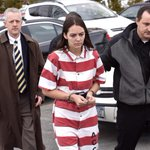 Tiffany VanAlstyne is lead to Knox Town Court for her arraignment for the alleged murder of 5YO Kenneth White. http://t.co/0nifugnv0I