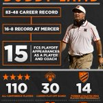 With over 30 years of coaching experience and proven sucess, @bobby_lamb is one of the top coaches in the #FCS. http://t.co/NNiX73ExV3