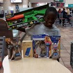 Jacob with his Christmas gifts. He said thank you very much to the Mt. Pleasant Police Dept! #PolTwt #mtpsc ^mc http://t.co/yrJhZG8Xgy