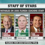 Notable head coaches on 2006 Florida Coaching Staff  #CFBLIVE http://t.co/Sfg29eoHyz