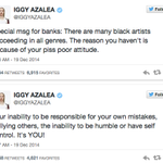 """Iggy Azalea fought back on Twitter after Azealia Banks insulted her as a """"Clueless White Girl"""" http://t.co/NKJh8NB1hl http://t.co/AgpmlU0Dkt"""