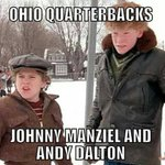 The current Ohio NFL Quarterbacks as related to 'A Christmas Story' http://t.co/fCNFBVMseH