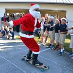 Skateboarding #Santa cruised through #HTEA today! That dude was totally rad... Happy Holidays everyone! http://t.co/UDli0dw1SU