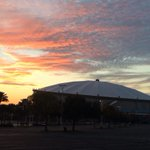 Sunset over Tropicana Field. Live report on Rays/ St. Pete struggles coming up @abcactionnews http://t.co/xsPpswzX3f
