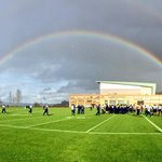 This goes out to the #12s! We had a rainbow watching over us at practice today! #GoHawks http://t.co/8EyO36clfb