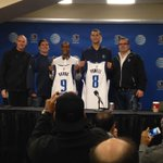 Thats a wrap! Rondo & Powell press conference concludes with a jersey photo! http://t.co/5jjUB8unh8