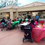 Families at Desert Gardens in Indio enjoying a xmas party hosted by CV Housing Coalition. Kids + seniors to get gifts http://t.co/B9T5yHwAg3