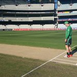 Hes back at the @mcg. @KP24 checks out the pitch before tonights match against the @HurricanesBBL #BBL04 http://t.co/XO0XLLf1hp