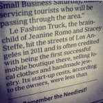 """#fbf to 3 weeks ago when Le Fashion Truck was mentioned in #NewYorkTimes. """"Le Fashion Truck, the brainchild of... http://t.co/xRq0Jr3MIg"""