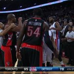 VIDEO: Andre Drummond didnt like James Johnson's dunk, scuffle breaks out after hard foul http://t.co/LrxRXr2Z6G http://t.co/icLJBYH2oc