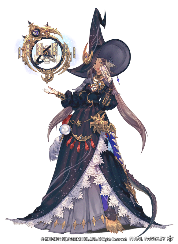 Introducing the new healer job, astrologian! Main weapon: star globe! No base class, only a job! #Heanvesward #FFXIV http://t.co/LWuYplaKk1