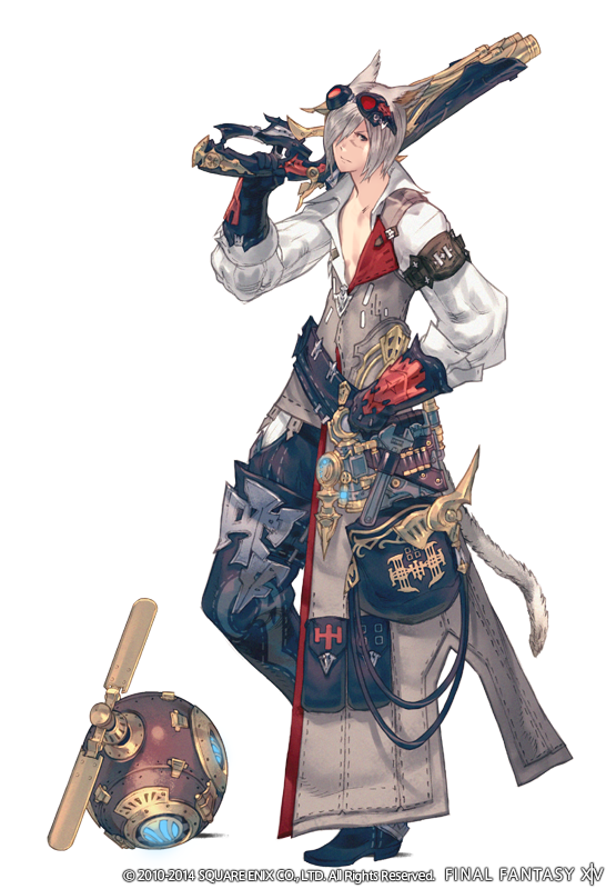 Introducing the 3rd new #Heavensward job, machinist! Main weapon: firearms. Also no base class; job only! #FFXIV http://t.co/usOO3ksz7P