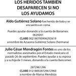 No solo #NosFaltan43 Familiares de Julio César y Alexander asesinados nos necesitan y Aldo herido d bala también http://t.co/ao3dGOegwE