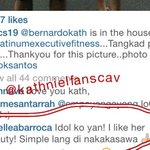 Marc Barrocas wife Russel Barroca commented on Gerwin Gacos post with @bernardokath ???????????? http://t.co/MmbwtXWKxT