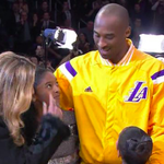 VIDEO: #Lakers honor @kobebryant before tonight's game on becoming No. 3 on the scoring list. http://t.co/14Uya5DE7M http://t.co/kwKnC2Djsd
